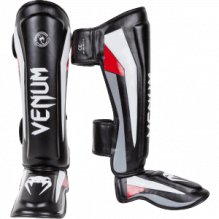 "Щитки Venum ""Elite"" Standup Shinguards - Black/Red/Grey"